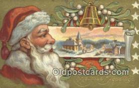hol000599 - Santa Claus Old Vintage Antique Postcard Post Card