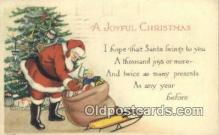 hol000605 - Santa Claus Old Vintage Antique Postcard Post Card