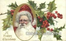 hol000607 - Santa Claus Old Vintage Antique Postcard Post Card