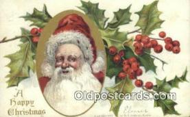 hol000607 - Santa Claus Old Vintage Antique Postcard Post Card