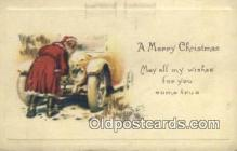 hol000608 - Santa Claus Old Vintage Antique Postcard Post Card