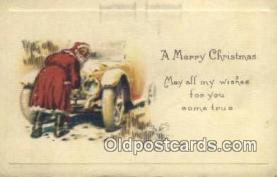 hol000608 - Santa Claus Old Vintage Antique Postcard Post Card
