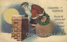 hol000609 - Santa Claus Old Vintage Antique Postcard Post Card
