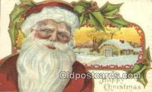 hol000610 - Santa Claus Old Vintage Antique Postcard Post Card