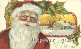 hol000610 - Santa Claus Old Vintage Antique Postcard Post Card