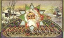 hol000614 - Santa Claus Old Vintage Antique Postcard Post Card