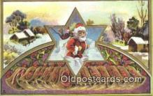 hol000615 - Santa Claus Old Vintage Antique Postcard Post Card