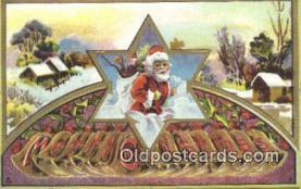 hol000615 - Santa Claus Old Vintage Antique Postcard Post Card