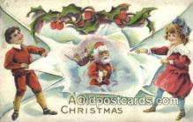 hol000616 - Santa Claus Old Vintage Antique Postcard Post Card
