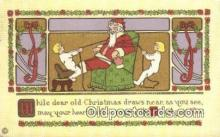 hol000618 - Santa Claus Old Vintage Antique Postcard Post Card