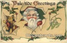 hol000619 - Santa Claus Old Vintage Antique Postcard Post Card