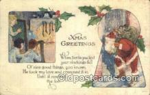 hol000622 - Santa Claus Old Vintage Antique Postcard Post Card