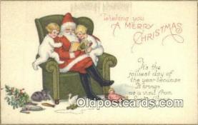 hol000625 - Santa Claus Old Vintage Antique Postcard Post Card
