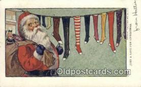 hol000626 - Santa Claus Old Vintage Antique Postcard Post Card