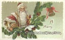 hol000630 - Santa Claus Old Vintage Antique Postcard Post Card