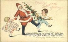 hol000632 - Santa Claus Old Vintage Antique Postcard Post Card