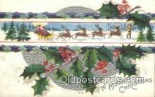 hol000633 - Santa Claus Old Vintage Antique Postcard Post Card