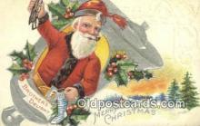 hol000634 - Santa Claus Old Vintage Antique Postcard Post Card