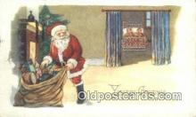 hol000635 - Santa Claus Old Vintage Antique Postcard Post Card