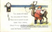 hol000638 - Santa Claus Old Vintage Antique Postcard Post Card