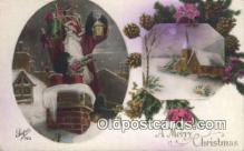 hol000639 - Santa Claus Old Vintage Antique Postcard Post Card
