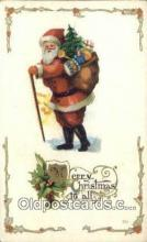hol000643 - Santa Claus Old Vintage Antique Postcard Post Card