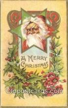 hol000645 - Santa Claus Old Vintage Antique Postcard Post Card