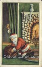 hol000651 - Santa Claus Old Vintage Antique Postcard Post Card