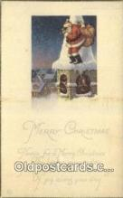 hol000653 - Santa Claus Old Vintage Antique Postcard Post Card