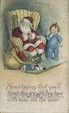 hol000655 - Santa Claus Old Vintage Antique Postcard Post Card
