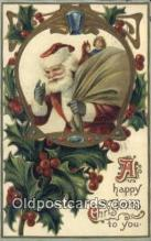 hol000658 - Santa Claus Old Vintage Antique Postcard Post Card