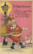 hol000659 - Santa Claus Old Vintage Antique Postcard Post Card