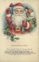 hol000673 - Santa Claus Old Vintage Antique Postcard Post Card