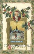 hol000676 - Santa Claus Old Vintage Antique Postcard Post Card