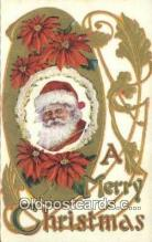 hol000680 - Santa Claus Old Vintage Antique Postcard Post Card