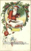 hol000682 - Santa Claus Old Vintage Antique Postcard Post Card