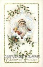 hol000688 - Santa Claus Old Vintage Antique Postcard Post Card
