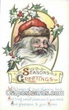hol000690 - Santa Claus Old Vintage Antique Postcard Post Card