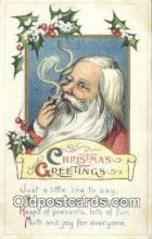 hol000693 - Santa Claus Old Vintage Antique Postcard Post Card