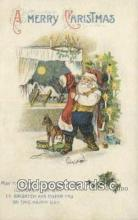hol000696 - Santa Claus Old Vintage Antique Postcard Post Card