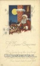 hol000702 - Santa Claus Old Vintage Antique Postcard Post Card