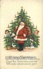 hol000703 - Santa Claus Old Vintage Antique Postcard Post Card