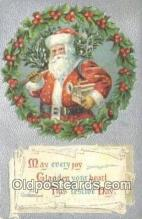 hol000704 - Santa Claus Old Vintage Antique Postcard Post Card
