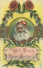 hol000705 - Santa Claus Old Vintage Antique Postcard Post Card