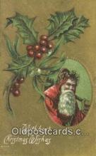 hol000711 - Santa Claus Old Vintage Antique Postcard Post Card