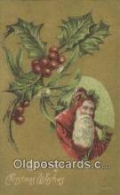 hol000712 - Santa Claus Old Vintage Antique Postcard Post Card
