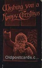 hol000714 - Santa Claus Old Vintage Antique Postcard Post Card