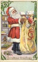 hol000725 - Stecher Publisher Santa Claus Old Vintage Antique Postcard Post Card