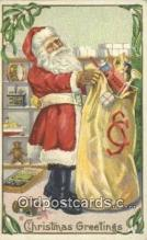 hol000726 - Stecher Publisher Santa Claus Old Vintage Antique Postcard Post Card