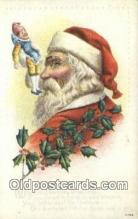 hol000730 - Santa Claus Old Vintage Antique Postcard Post Card